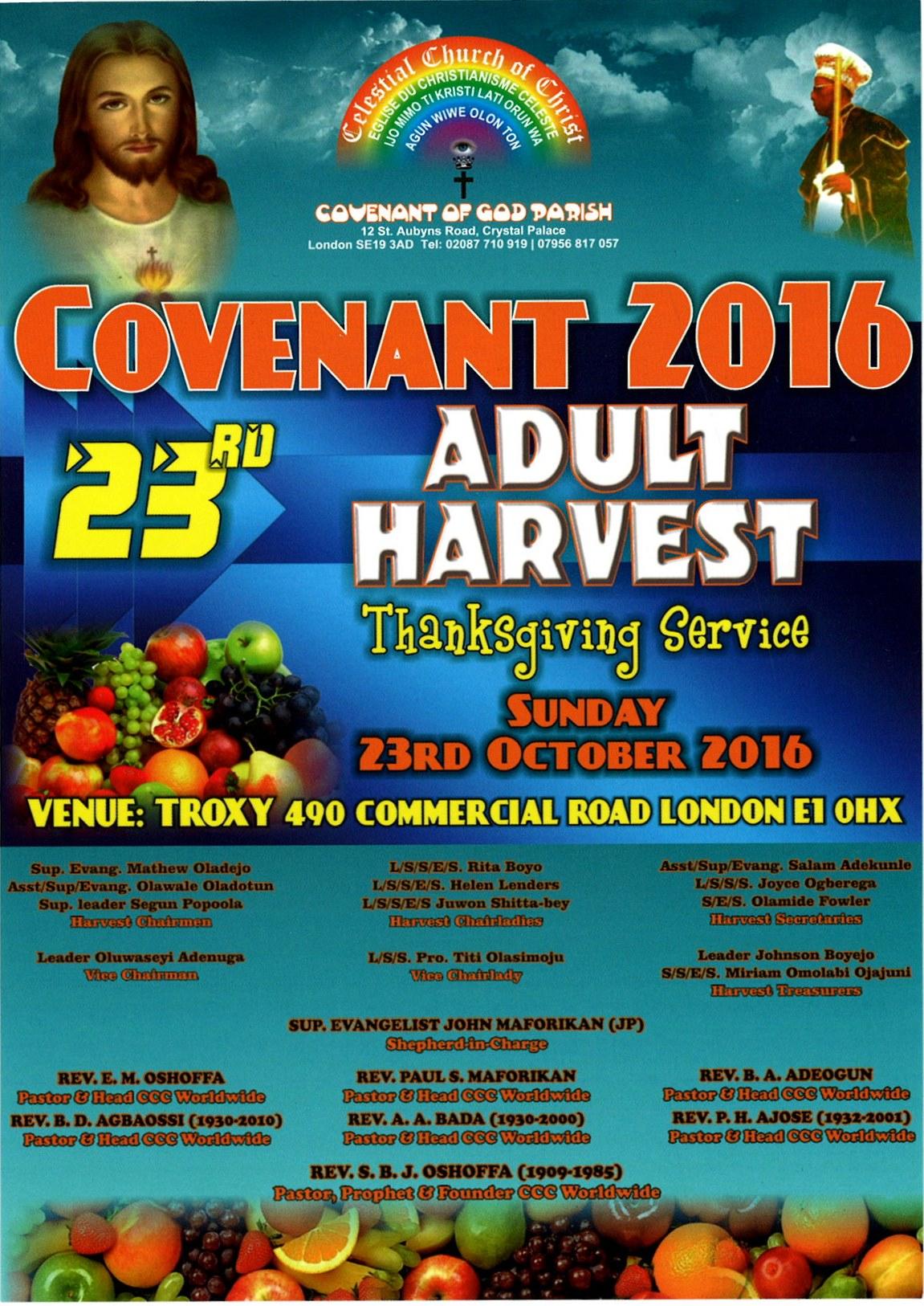 23nd Covenant Adult Harvest 2016